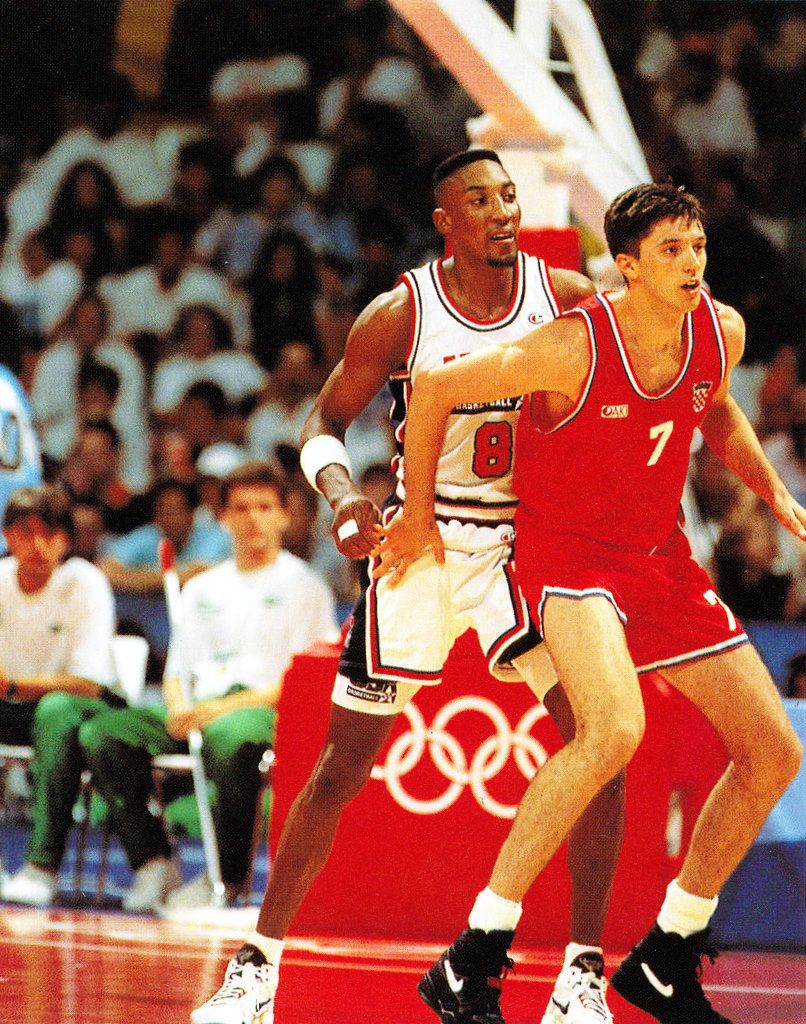 Toni Kukoc and Scottie Pippen- Barcelona '92