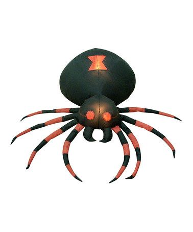 Another great find on #zulily! Giant Spider Inflatable Light-Up Lawn - giant spider halloween decoration