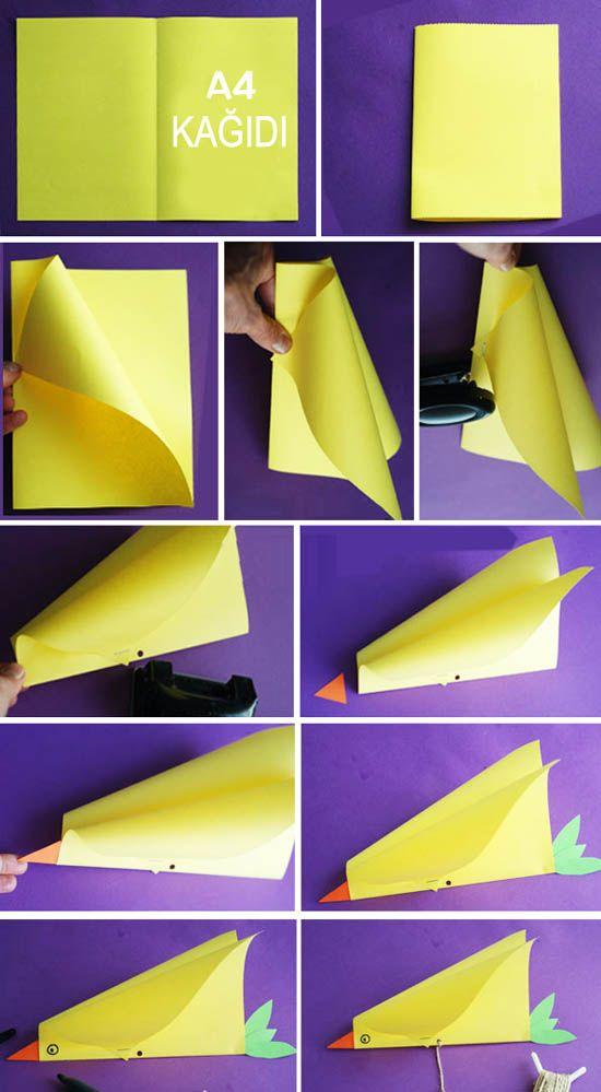 Kağıttan Kuş Uçurtma Yapımı