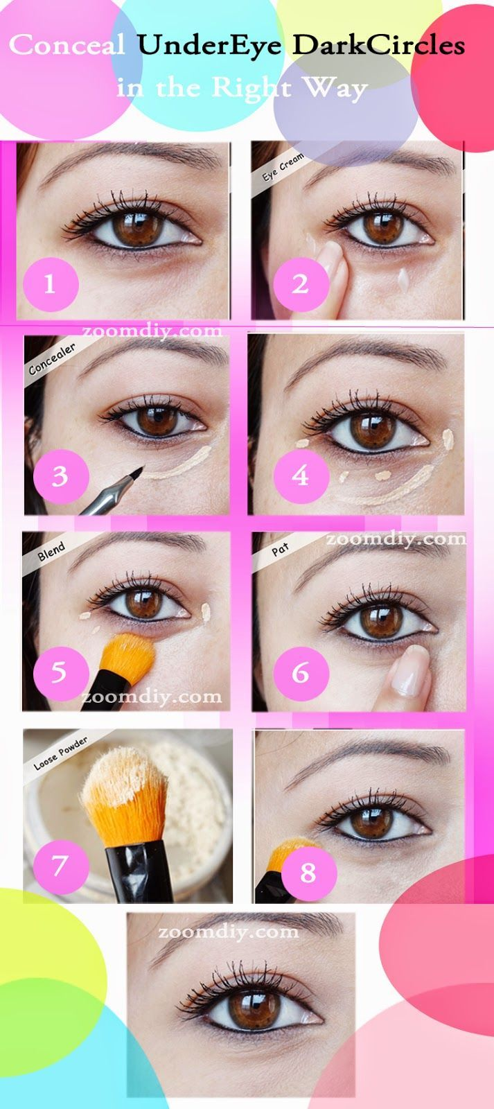 The Best and Easiest Way to Conceal Under Eye Dark Circles ...