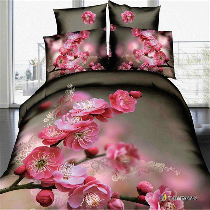 pas cher housse de couette peinture 3d ensemble de literie drap de lit en coton ensembles de. Black Bedroom Furniture Sets. Home Design Ideas