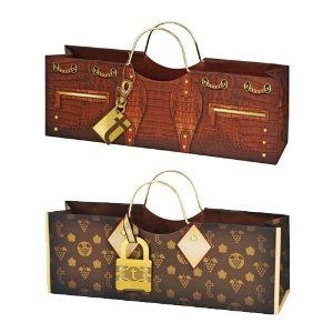 Assorted Croc and Logo Wine Purse Bag, Unique Wine Gift Bag, Wine ...