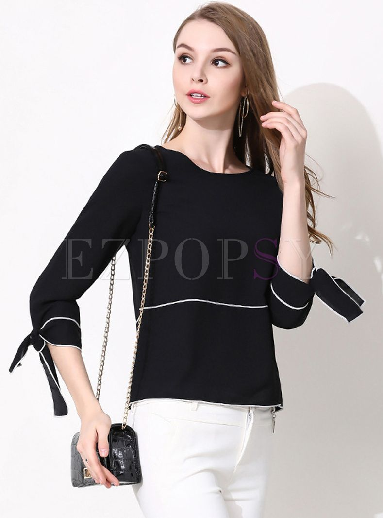 e7f11a96a7 Shop for high quality Black Color-blocked Slim Top online at cheap prices  and discover