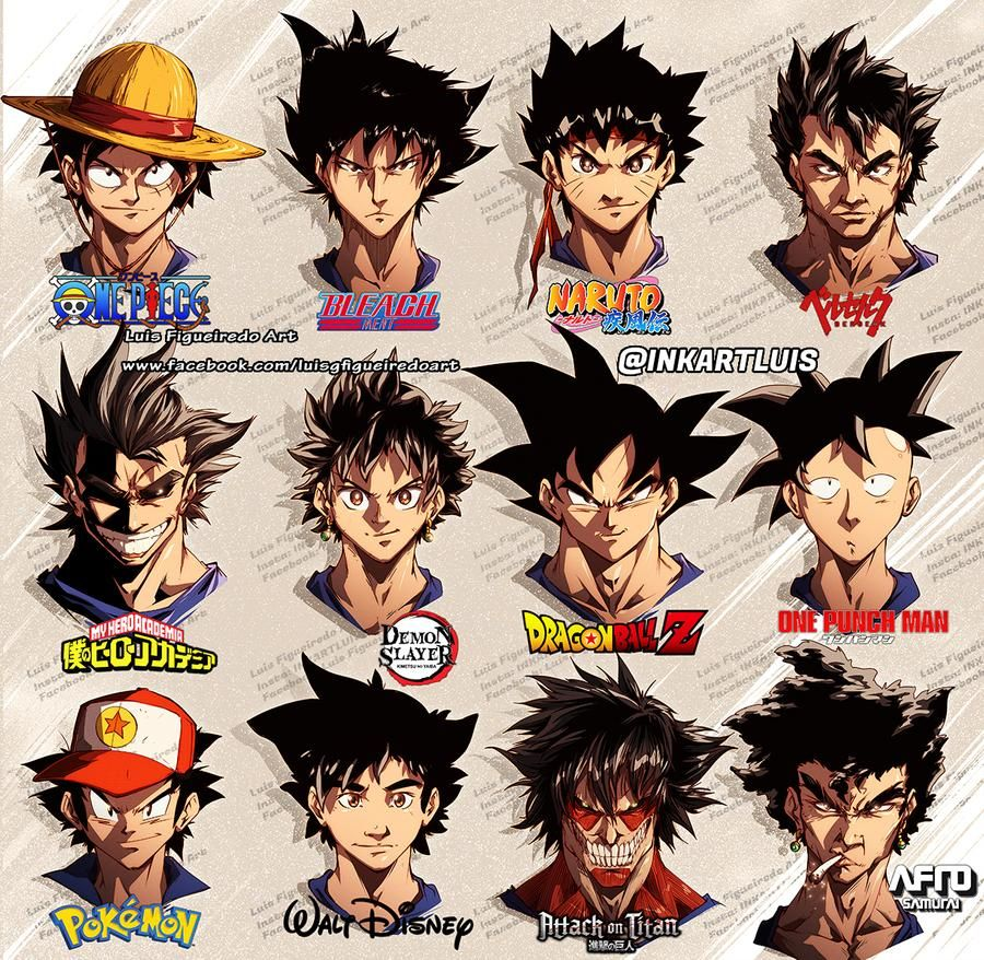 Goku In Different Styles By Marvelmania On Deviantart In 2020 Dragon Ball Super Manga Anime Fight Anime Drawing Styles
