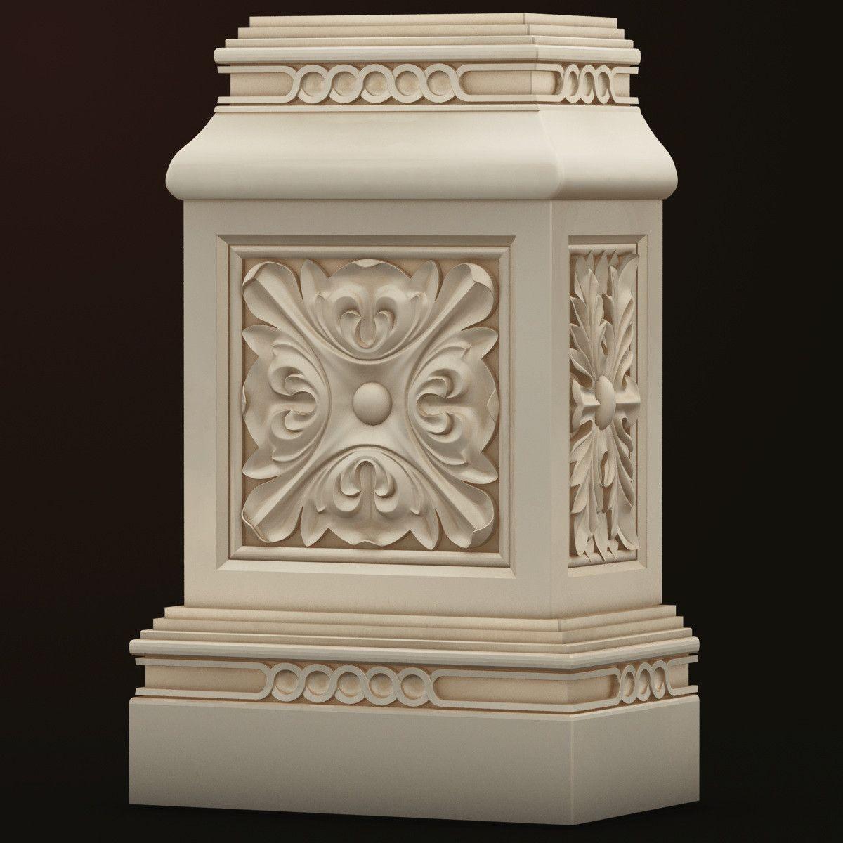base decor 3d model Pillar design, Columns decor, Pooja