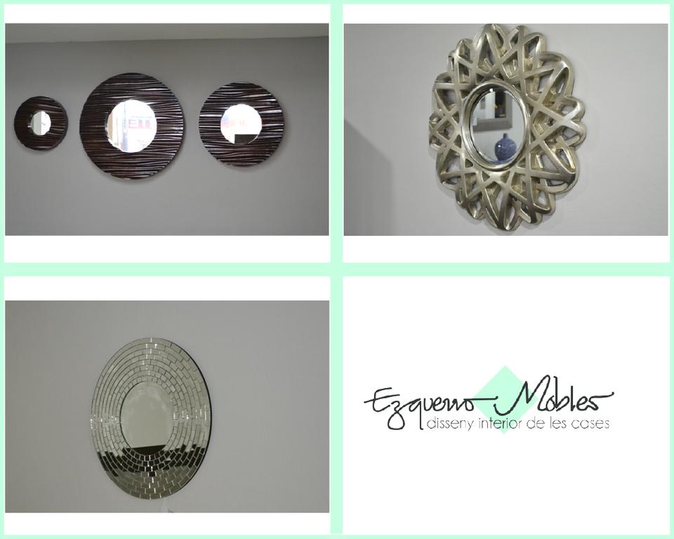 Espejos de Pared - Los espejos ayudan a que un espacio reducido luzca más amplio. Ezquerro Mobles. #espejos #tipsdecoración #diseño
