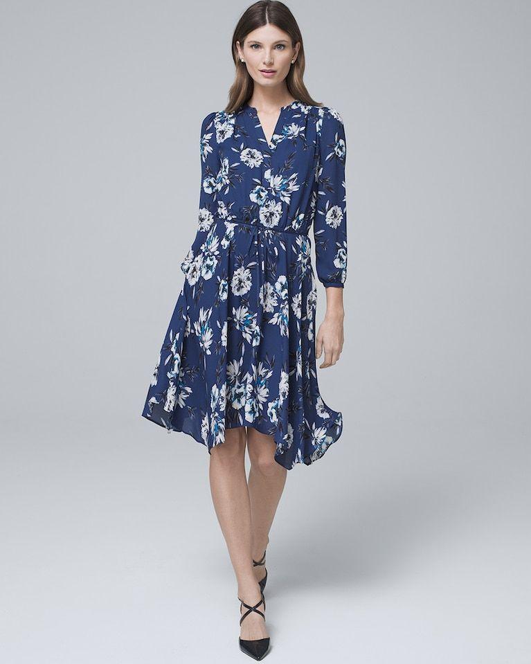 d45c422f4b5c9 Women s Floral-Print Soft Blouson Dress by White House Black Market