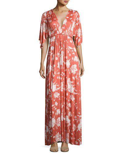 e94f1f63d96d1 RACHEL PALLY FLORAL-PRINT CAFTAN MAXI DRESS, CHIPOTLE PEONY, PLUS SIZE. # rachelpally #cloth #
