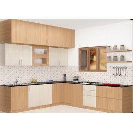Bacton L Shaped Kitchen With Laminate Finish L Shaped Modular