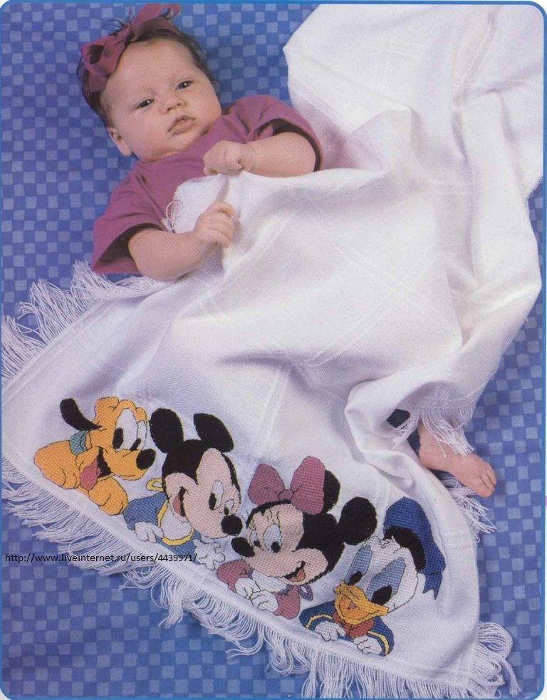 point de croix couverture bébé Couverture Disney en point de croix   Point de Croix & autres  point de croix couverture bébé