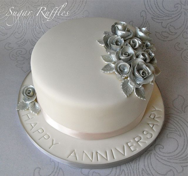 Silver Wedding Anniversary Cake Cake Pinterest Wedding