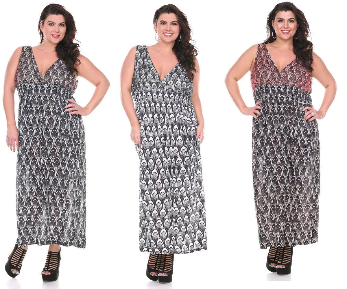 Womens plus size sleeveless stretch halter casual summer maxi long