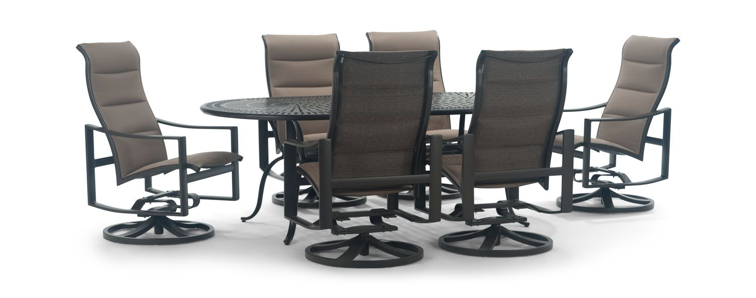 Kenzo 7 Piece Padded Patio Dining Set By Hom Furniture Patio