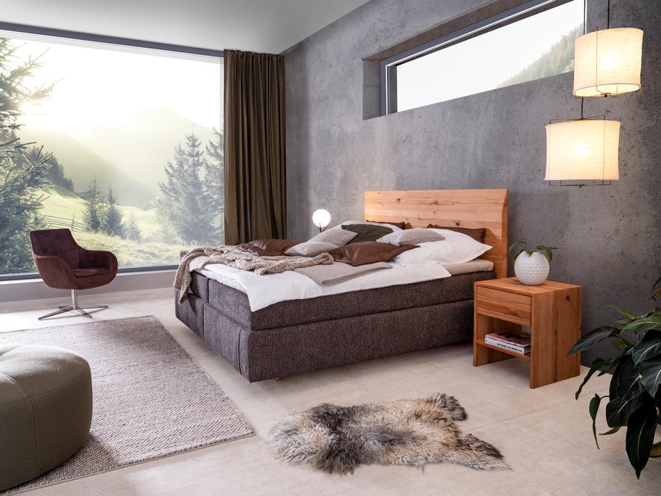 Holzbett aus Wildkernbuche   Haus, Bett modern, Schlafzimmer einrichten