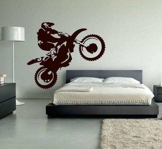 Motocross Wall Decal, Dirt Bike Decor, Motocross Decor