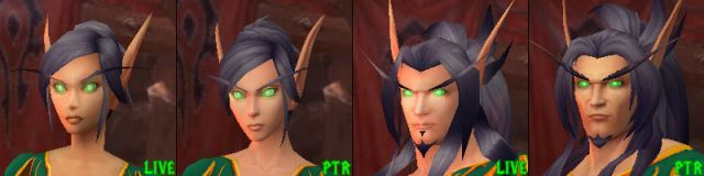 Updated Blood Elf Models Now On Ptr Warlords Of Draenor World Of