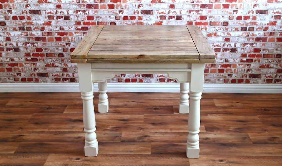 Extending Rustic Farmhouse Dining Table Drop Leaf Natural Or Painted Finish Folding Ergonomic Space Saving Extendable Rustic Farmhouse Dining Table Small Square Dining Table Dining Table