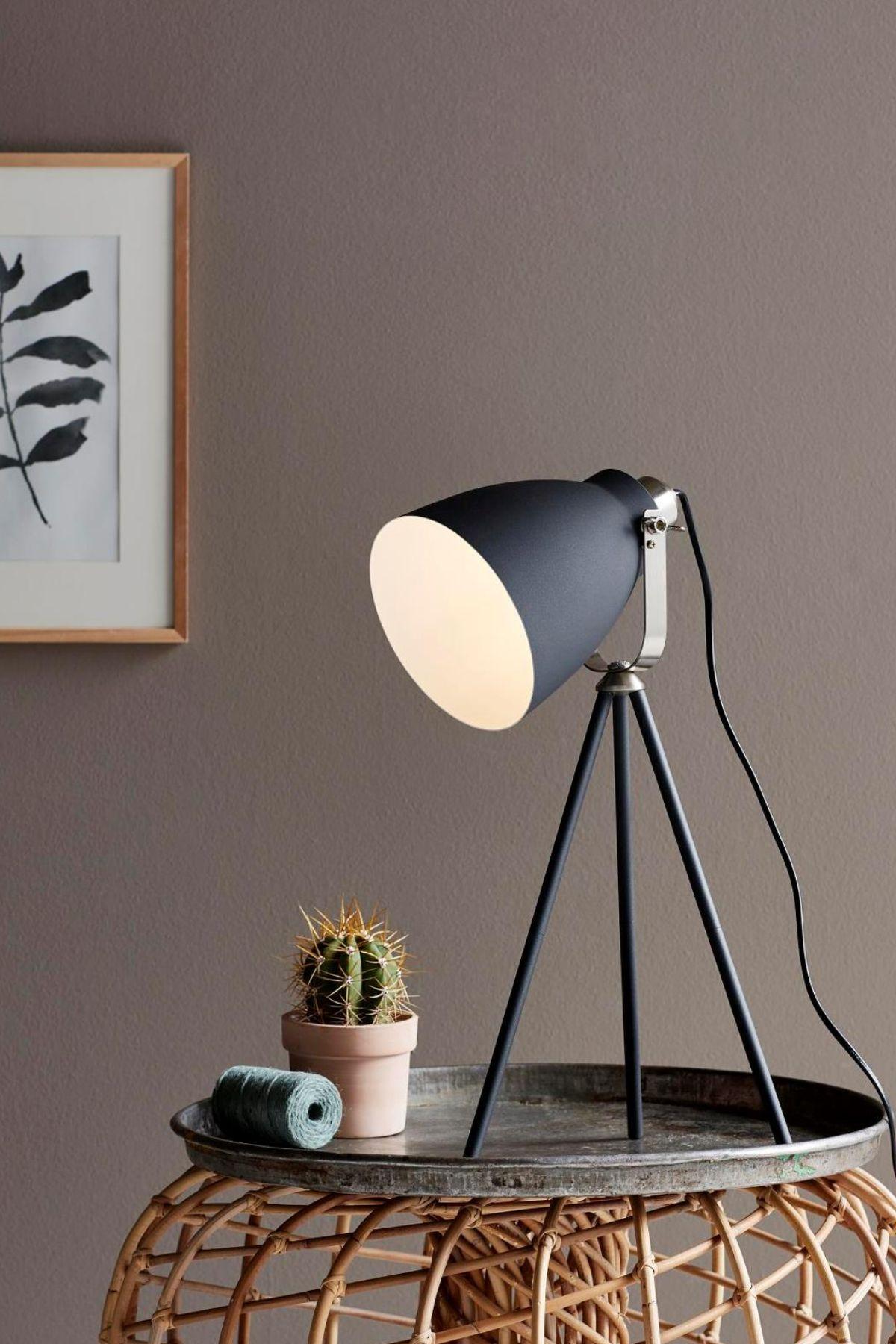 Noir LargoLampes Poser À Trépied Lampe Table De 0ZwOPXk8Nn