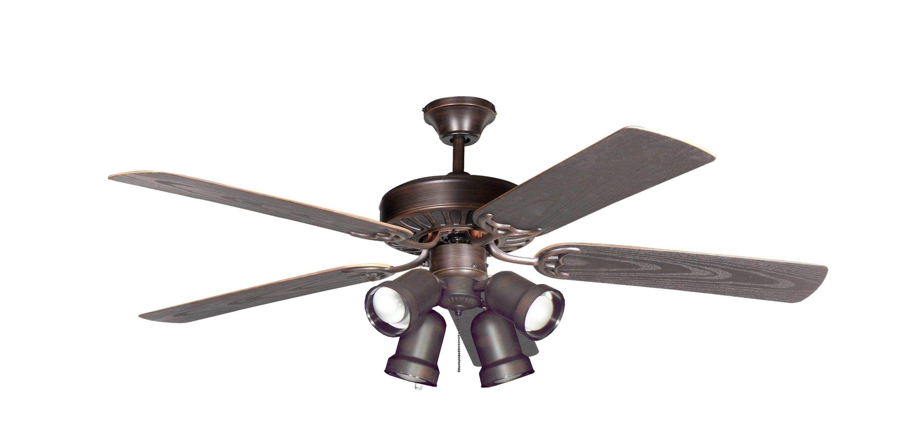 """Monarch Oil Rubbed Bronze Ceiling Fan with 60"""" Teak Blades w 174"""