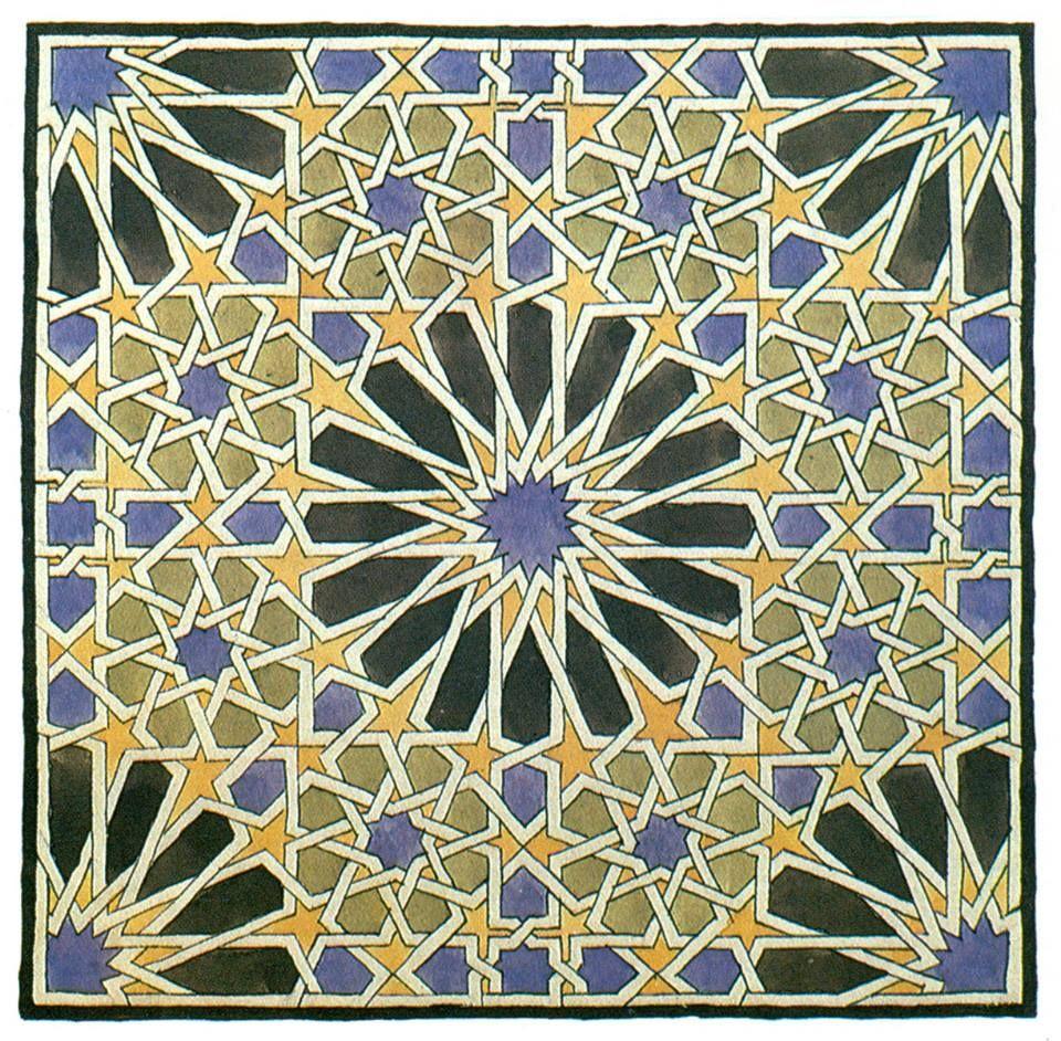 Schers sketch of a portion of a wall mosaic in the alhambra mural mosaic in the alhambra drawing by mc escher doublecrazyfo Images