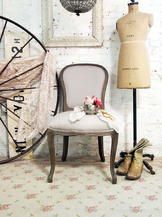 Painted Cottage Chic Shabby Farmhouse Chair by paintedcottages, $295.00