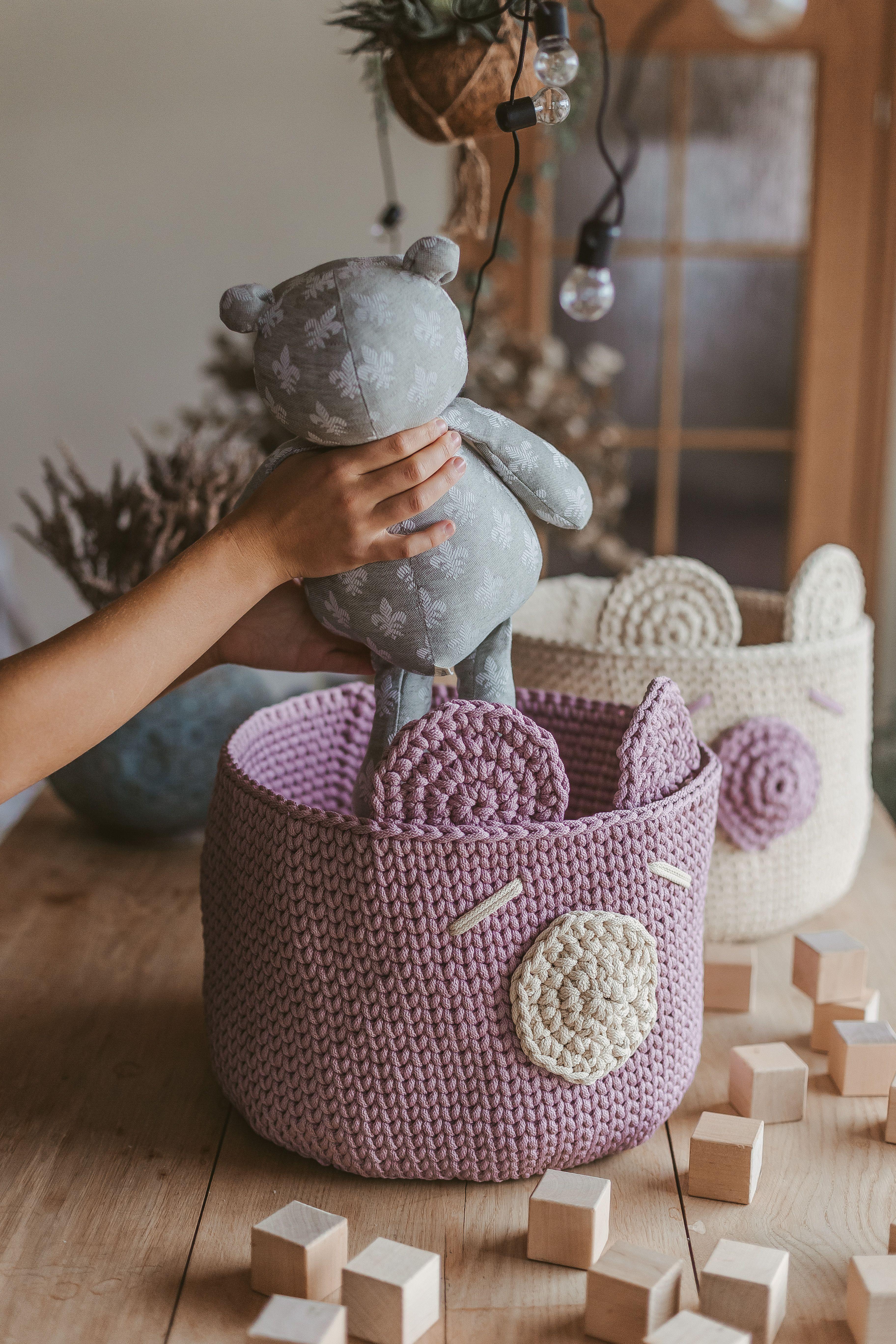 Nursery Storage Basket Crochet