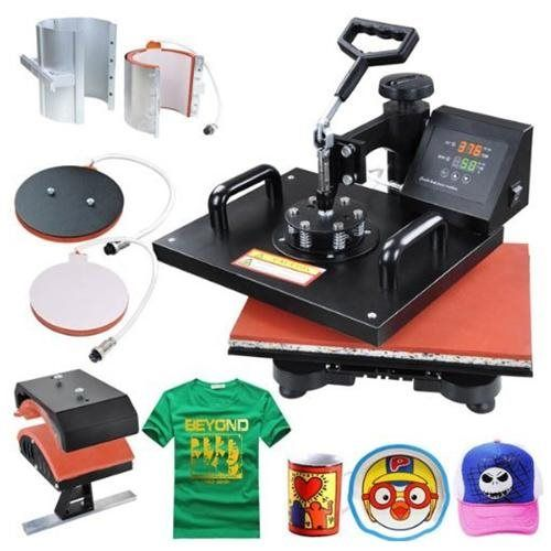 5 in 1 black heat press transfer sublimination machine agape s