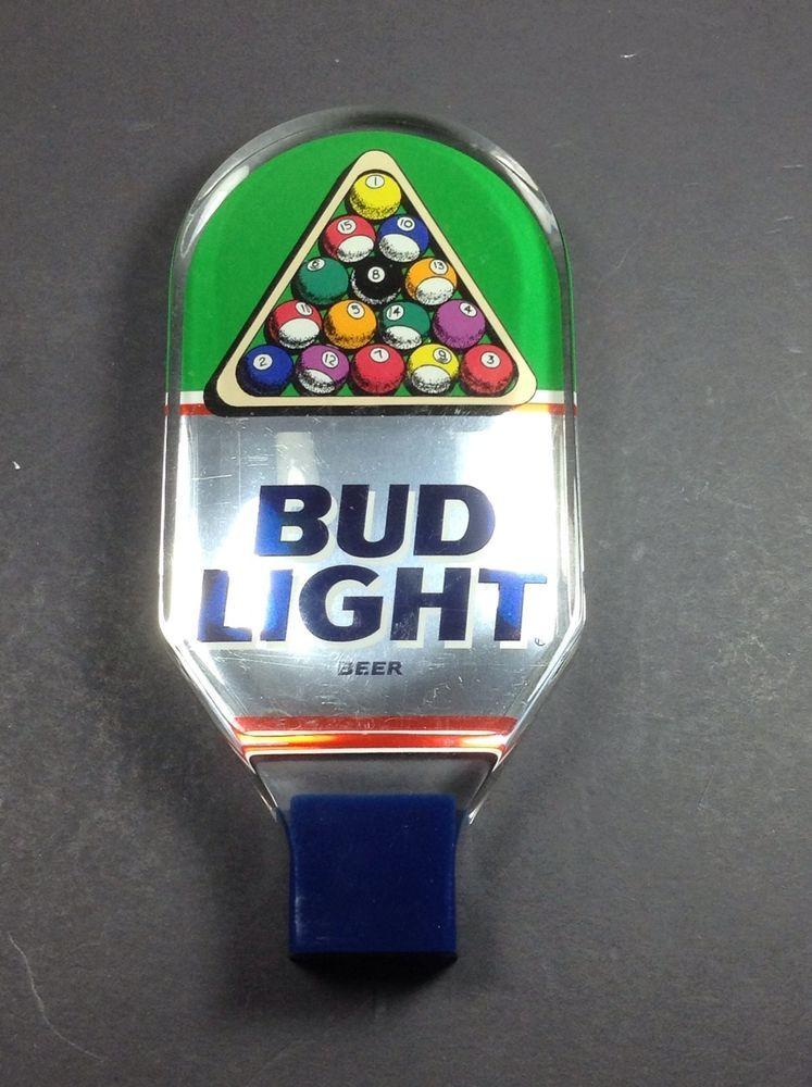 Exceptional Budweiser Bud Light Beer Tap Handle 8 Ball Pool Draft Keg Knob Home Design Ideas