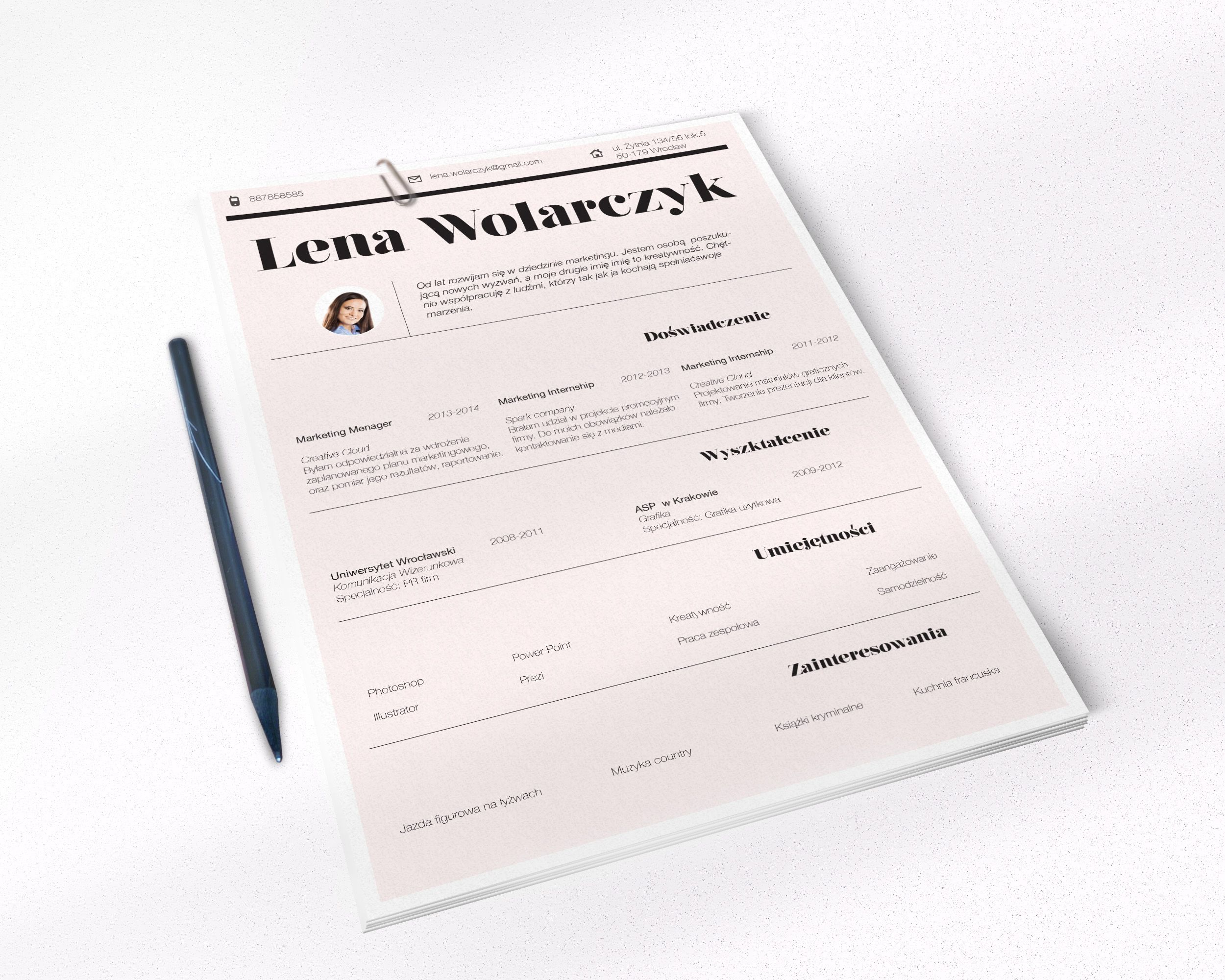 Peach classic resume design:) Find us on Etsy.