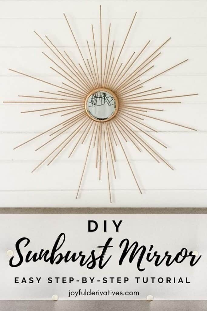 How to Make a Fabulous DIY Sunburst Mirror for Cheap! - Joyful Derivatives -   22 home decor for cheap diy wall art ideas