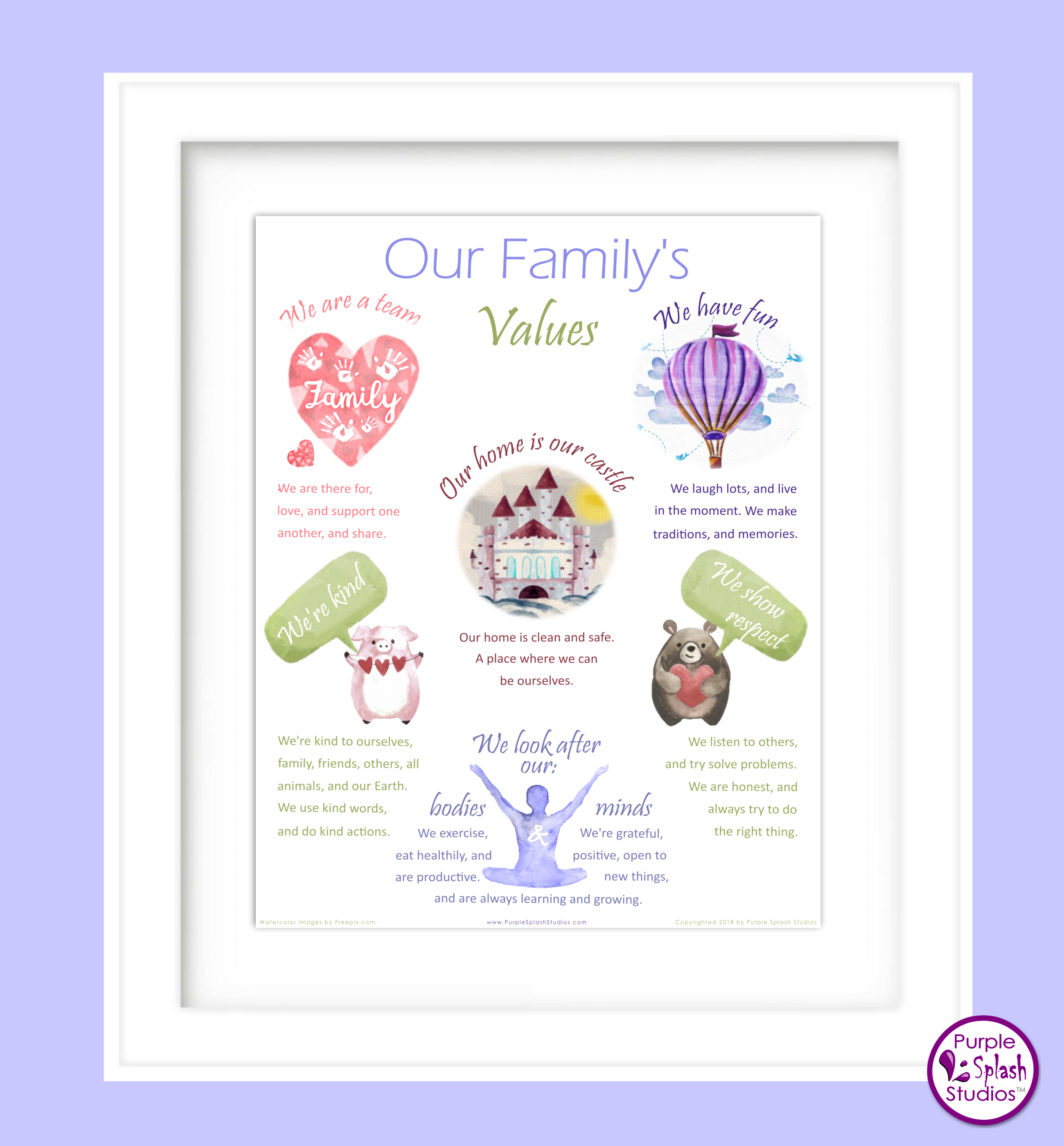 Love This Family Values Poster We Live By It