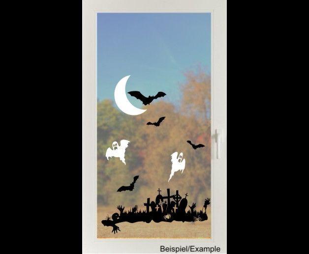 Deko Halloween - Erwachen der Zombies s/w - Folien-Tattoo - ein Designerstück von CatrinKerschl bei DaWanda