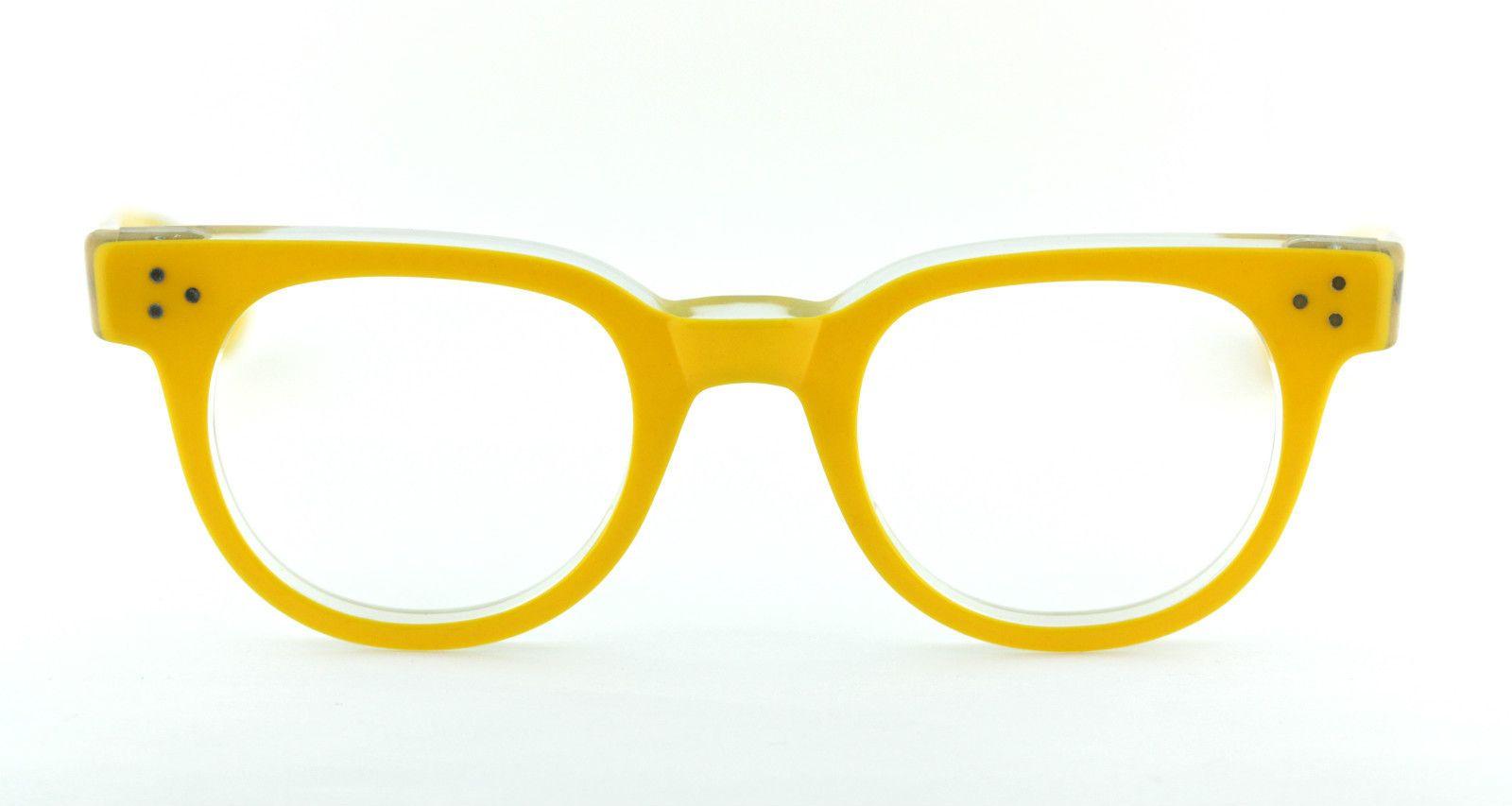 vtg 80s nos shady character tart classic yellow eyeglass frames fdr oversized - Yellow Eyeglass Frames