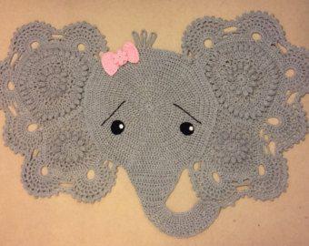 Elephant Rug Crochet Rug Baby Elephant Decor Boy Or Girl Haken