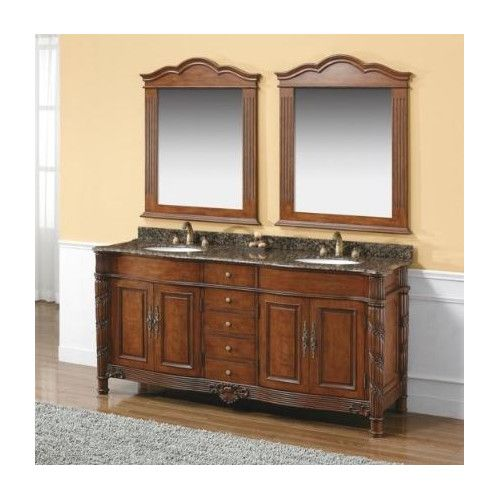 "Found It At Wayfairca  Dalia 72"" Double Cherry Bathroom Vanity Extraordinary Cherry Bathroom Vanity Design Inspiration"