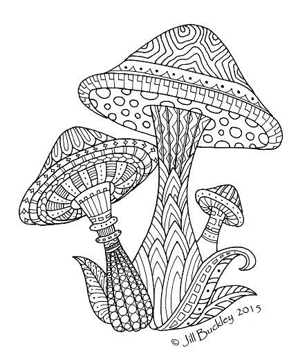 Mushrooms/Toadstools doodle @ The Quilt Rat | Printable ...