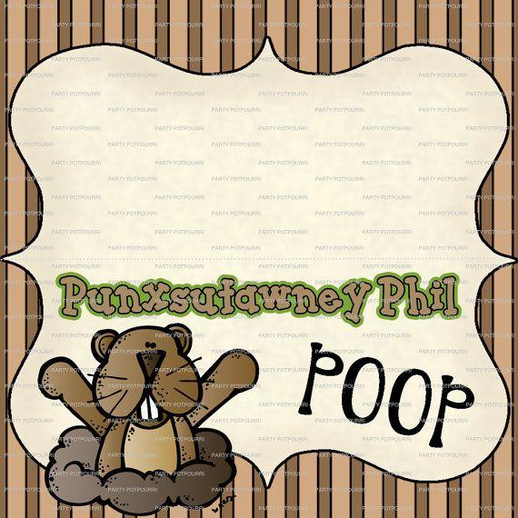 Punxsutawney Phil Poop Treat Bag Topper Small By -4264