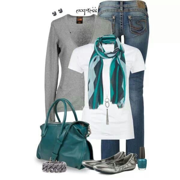 Scarf Outfit Minus The Shoes I D Rather Wear My Converse Or My