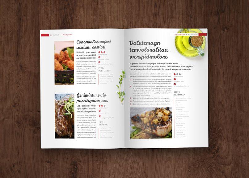 Kochbuch und Rezeptbuch Vorlage – Designs & Layouts für InDesign ...