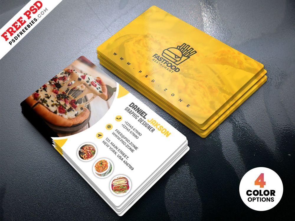 Psd Restaurant Business Card Design Templates Psdfreebies Com Restaurant Business Cards Visiting Card Design Business Card Template Design