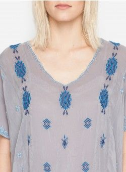 Native Paneled Blouse Blue Steal