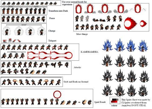 Evil Goku LSW Sprites by looking4sprites | 666 | Evil goku ... | 488 x 350 jpeg 48kB