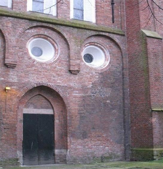 This is the best picture of a surprised building