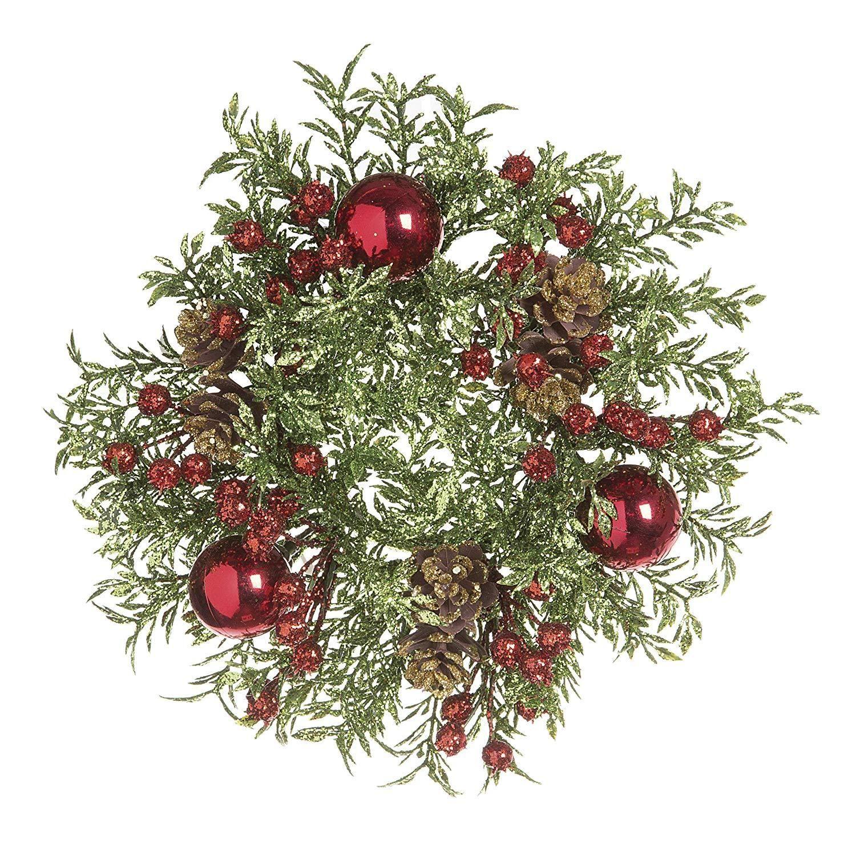 Ten Waterloo Christmas Candle Ring - Mini Wreath for 3 ...