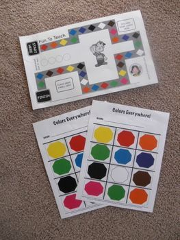 Kinder Color Game Board And Cards Get Ready To Have Fun Practicing Colors With This Great Colorful