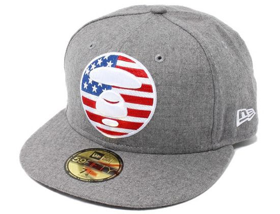 AAPE x NEW ERA「Bape Fill USA」59Fifty Fitted Baseball Cap ... 05a764d80c0a