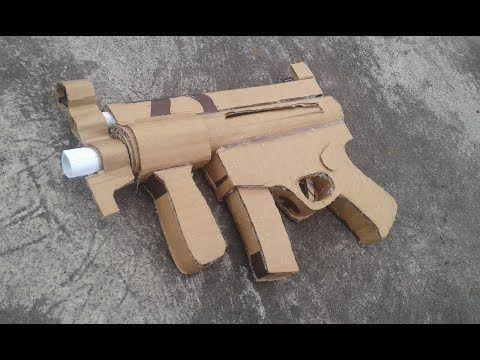 how to make cardboard gun