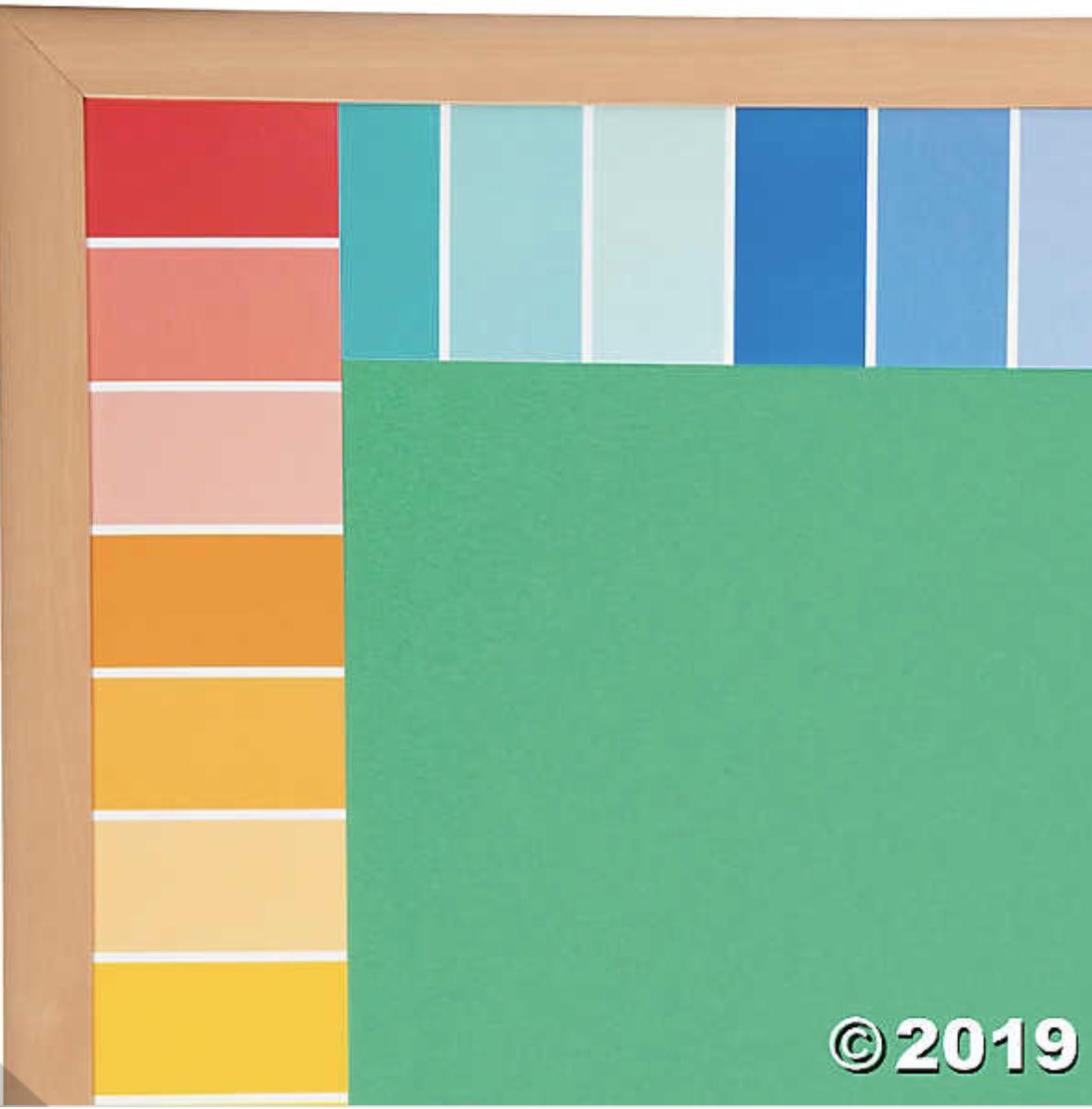 Painted Palette Rainbow Paint Chip Border