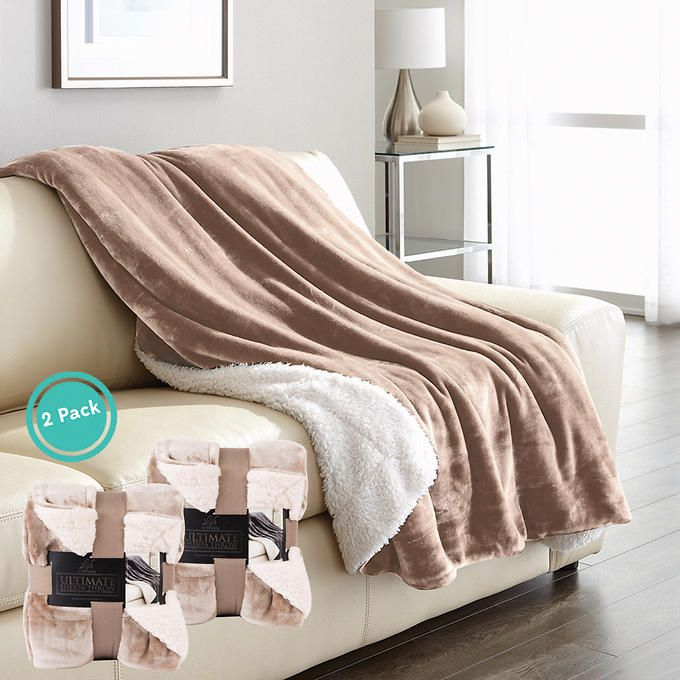 Life Comfort Ultimate Sherpa Throw 2 Pack Costco 23 Bed