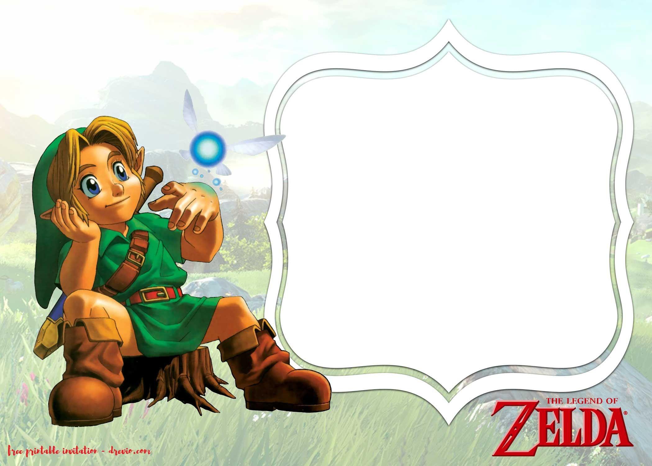 Download Now FREE Printable Legend Of Zelda Invitations Templates
